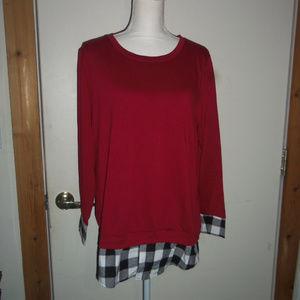 Faux Layered Sweatshirt M